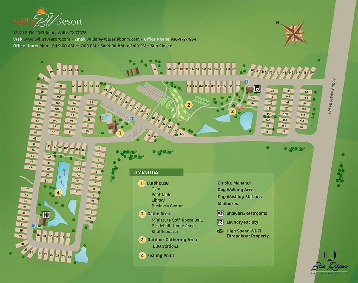 WillisRV resort map